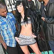 hung black studs sharing pretty brunette Andy San Dimas from Blacks on Blondes
