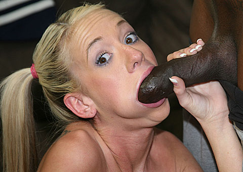 Busty blonde cheerleader does raw anal with a hung black player from Blacks on Blondes