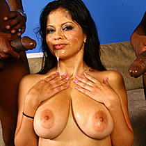 Natural busty Evie Delatosso gets nailed by hung black dudes from Blacks on Blondes