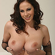 Natural busty Gianna Michaels goes black in fishnet dress from Blacks on Blondes