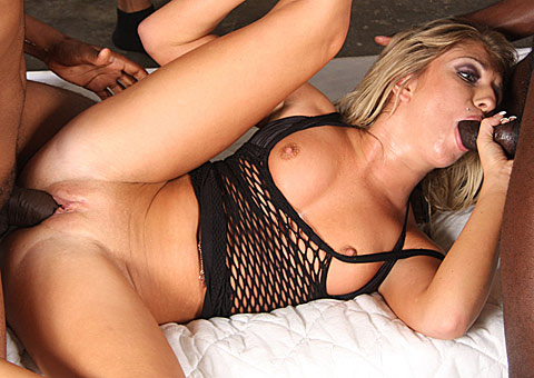 Blonde Beauty Jaelyn Fox in an interracial gangbang on blacks on blondes blog