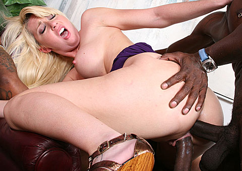 busty blonde chick gets double penetrated by hung blacks from Blacks on Blondes