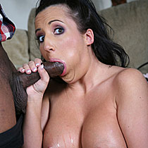 Busty brunette Richelle Ryan gets banged by a huge black cock from Blacks on Blondes